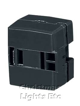 Cord End Outlet, Polarized - Black - SPT2 (For Indoor Use Only)