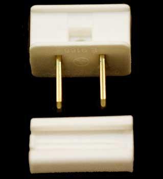 Male Zip Plug SPT1 Polarized, Ivory