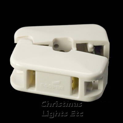 White Snap-On Female Outlet