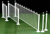 4' White Victorian Fencing