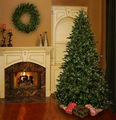 9' Full Canadian Fir Tree, 1300 Clear Lamps