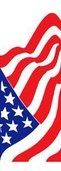 "American Flag Light Pole Banner 30"" x 84"""