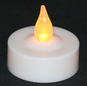 Battery Operated LED Tea Light Set with Flicker Flame, 6 Per box.