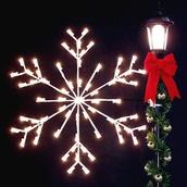 4' Arctic Snowflake Silhouette
