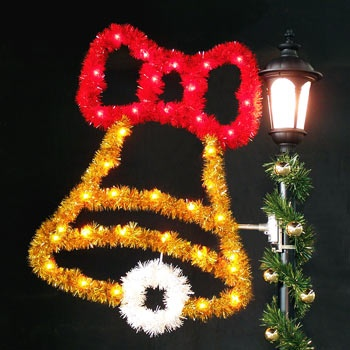 4' Bell with Bow, Garland