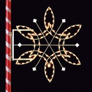 4' Fantasy Snowflake, Pole Mount, Clear Lamps