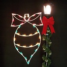 4' Ornament with Bow Silhouette