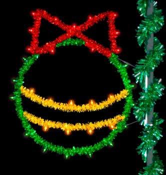 5' C9 Sparkling Christmas Ball Pole Mount