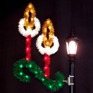 5' Double Candle with Garland