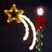 5' Shooting Star, with Garland