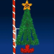 6' X 3' Vertical Tree, Pole Mount, (Amber, Green and Red Lamps)