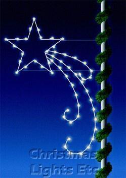 7' C7 Pole Mounted Shooting Star