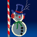 7' Frosty, Pole Mount, Blue, Clear, Green and Red Lamps