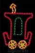 7' X 5' Animated Fantasy Train Caboose, Building Front, Amber, Green and Red Lamps
