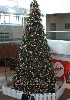 29' Giant Everest Commercial Christmas Tree, 5mm Warm White LED Lights