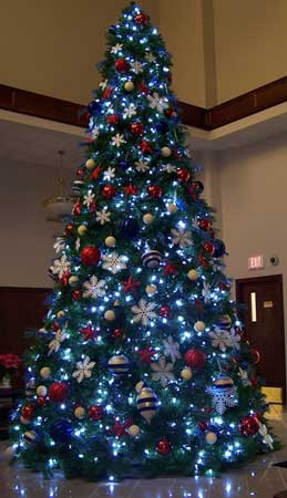 29' Full Pre-Lit Giant Everest Fir Tree, 2592 C7 5 Watt Multicolored Lamps