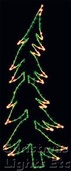 10' X 3.5' Whispering Pine Tree, Clear and Green Lamps (13' Tree Shown in Photo)