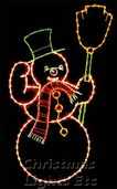 9.5' X 6' Animated Snowy, Clear Lamps (Shown with Multicolored Lights)