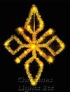 3.5'  Gold Tree Top Star, Clear Lamps