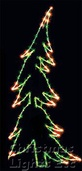 7' X 2' Whispering Pine Tree, Clear and Green Lamps