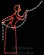 7.5' X 5' Victorian Woman Tree Trimmer w/Light Line, Clear, Red and Amber Lamps