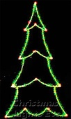 8' X 3.5' 2-D Carolina Pine Tree, Clear and Green Lamps