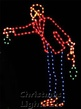 8' X 6' Victorian Man Tree Trimmer, Multicolored Lamps