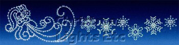 Complete Set of 6 C7 Animated Snowflakes (Can be Added to Old St. Nick Silhouette)