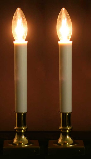 Brass Based Sensor Candle, Gold Cord, 2-Pack