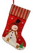Snowman with Hat Christmas Stocking