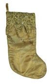 "19"" Gold Tasseled Stocking"