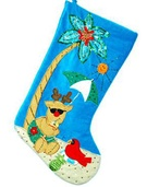 "19"" Reindeer on the Beach Stocking"