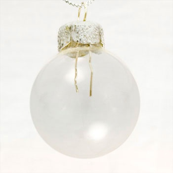 "1.5"" Clear Ball Ornament - Transparent Finish"