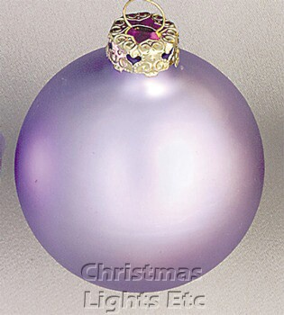 "4"" Lavender Ball Ornament - Matte Finish"