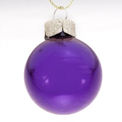 "3.25"" Purple Ball Ornament - Shiny Finish"