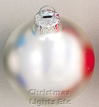 "3.25"" Silverfish Ball Ornament - Matte Finish"