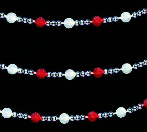 Garland Lights Red Warm White Led Beaded Light Garland