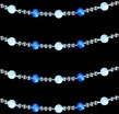 Blue/White LED Beaded Light Garland