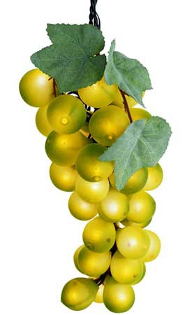 Giant PVC 35 Light Grape Cluster - Green