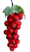 Giant PVC Single Grape Cluster - Red