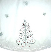 "56"" White Jeweled Tree Skirt"
