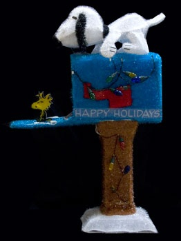 "36"" Animated Snoopy Mailbox Yard Art"