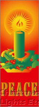 """Peace Candle Light Pole Banner 30"""" x 94"""""""
