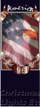 "United We Stand Light Pole Banner 30"" x 84"""
