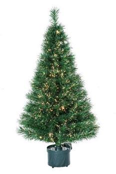 4' Green Fiber Optic Tree