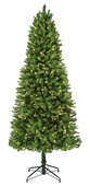 7.5' Pencil Pre-Lit Tiffany Tree, 450 Multicolored Lamps
