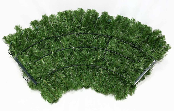Sequoia Fir Prelit Commercial Christmas Wreath, Clear Lights