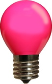 S11 Opaque Pink, 10 Watt Replacement Bulbs
