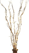"39"" Battery Operated Gold LED Willow Branches, 5pc"