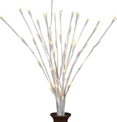 "20"" 3pc White Wrapped LED Lighted Branches"